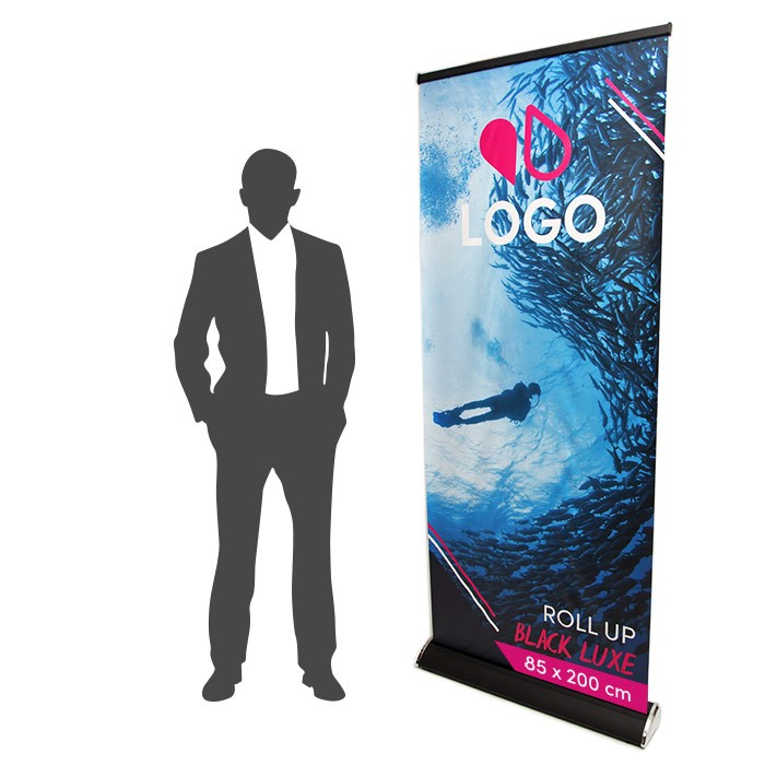 Roll Up Black Luxe 85 x 200 cm – 1 ex