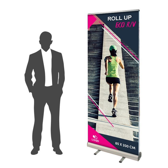 Roll Up Eco Recto/Verso 85 x 200 cm - 2 ex