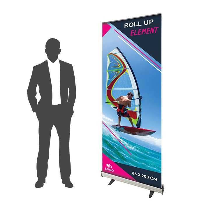 Roll Up Element 85 x 200 cm - 10 ex