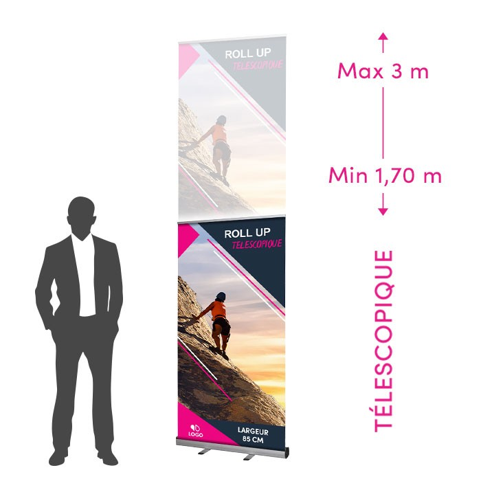 Roll-Up Télescopique de 85 cm de Large - 2 ex