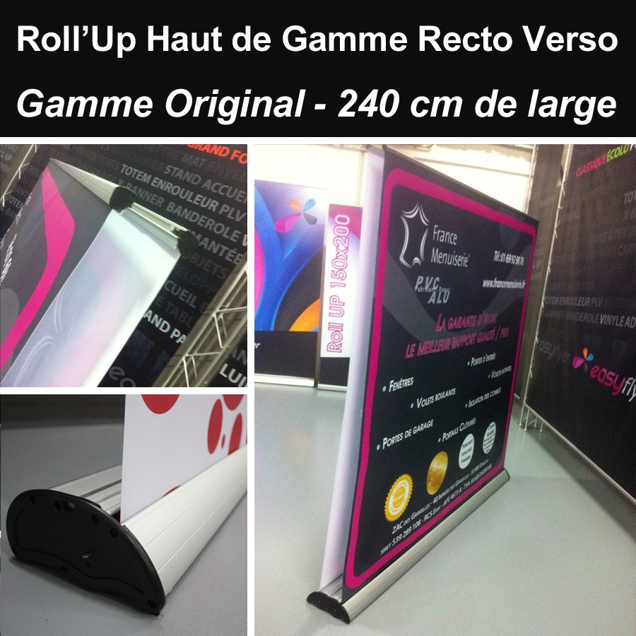 Roll UP Original Recto-Verso 240 x 214 cm