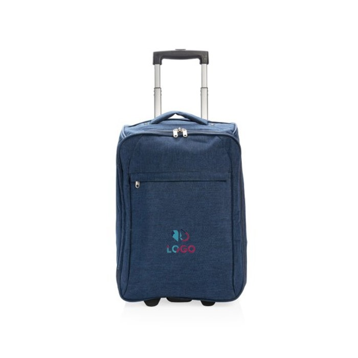 Valise trolley avec impression broderie